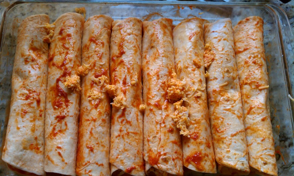 Easy Cheese Enchiladas before topping