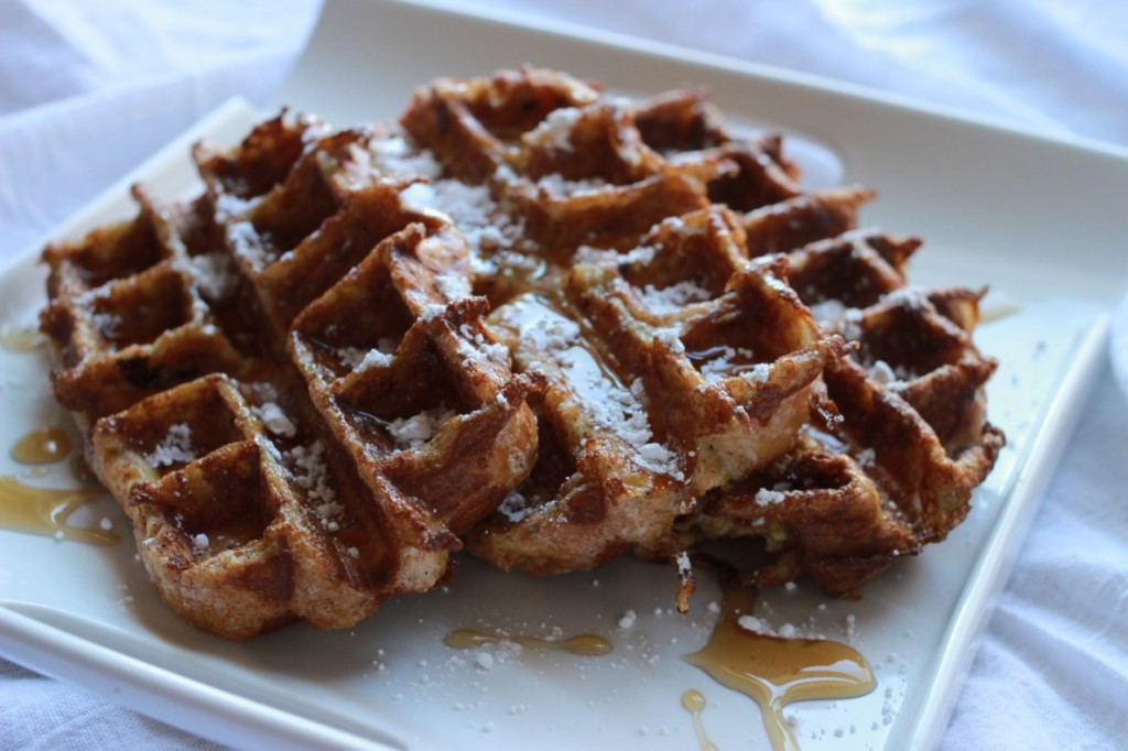 French Toast Waffles, side view