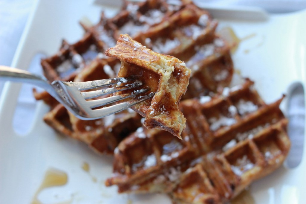 French Toast Waffles, perfect bite