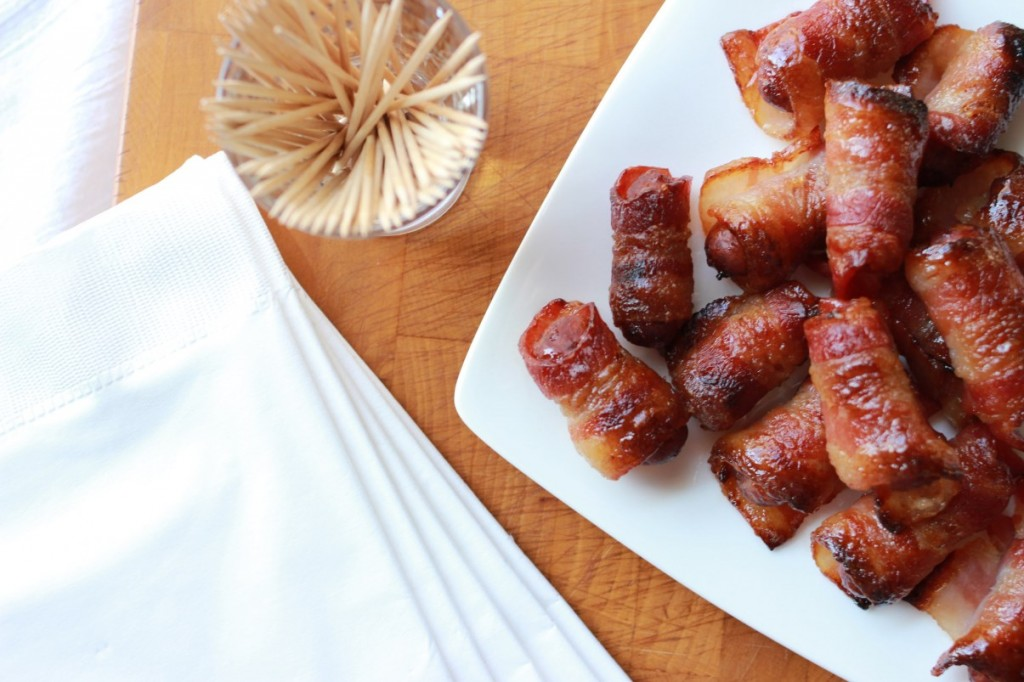 bacon wrapped sausage