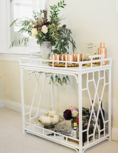 elegant bar cart