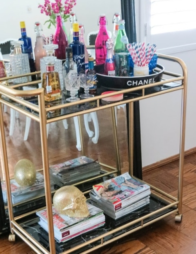 chanel bar cart