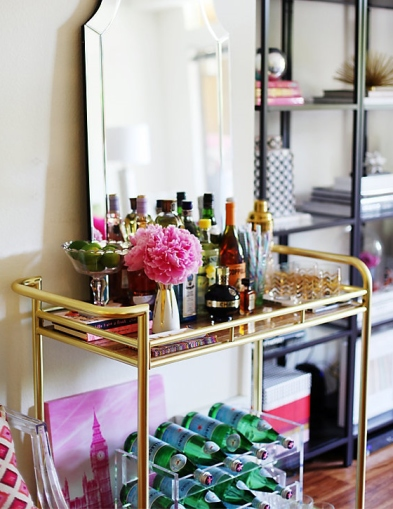 one kings lane gold bar cart
