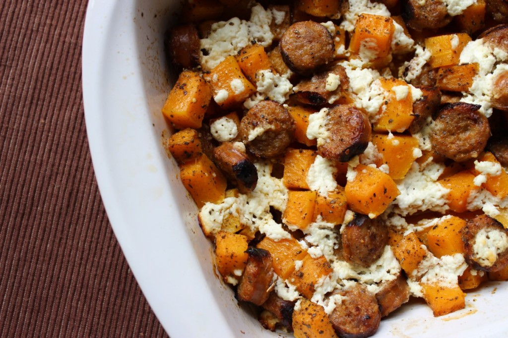 butternut squash and sausage casserole